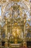 Interno di vecchia cappella, Regensburg, Germania Immagini Stock Libere da Diritti