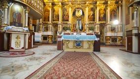 Interno di vecchio altare della chiesa Immagine Stock Libera da Diritti