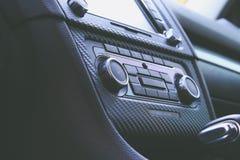 Interno di volkswagen del pannello di controllo di clima fotografie stock libere da diritti