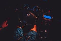 Interno di Volkswagen Golf Mk5 Immagini Stock Libere da Diritti