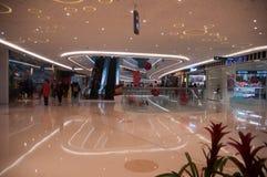 Interno di Wanda Plaza alla via di Han Immagine Stock