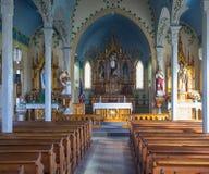 Interno dipinto di una chiesa Fotografie Stock Libere da Diritti