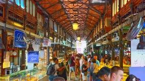 Interno do mercado de San Miguel Spanish: Mercado de San Miguel Fotos de Stock