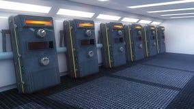Interno e capsule futuristici Fotografia Stock