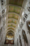 Interno e celling della cattedrale di Madrid Fotografie Stock Libere da Diritti