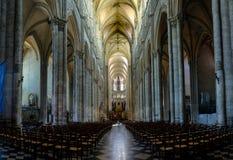 Interno e dettaglio della cattedrale di Amiens in Francia fotografie stock libere da diritti