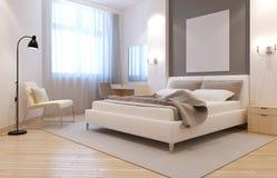 Interno elegante della camera da letto di avangard Fotografie Stock