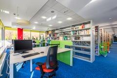 Interno funzionale delle biblioteche Fotografia Stock