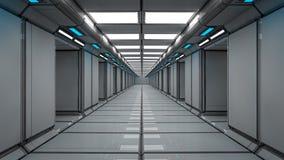 Interno futuristico del corridoio Fotografie Stock Libere da Diritti