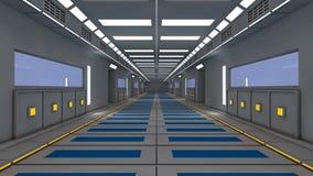 Interno futuristico del corridoio Immagini Stock Libere da Diritti