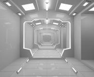 Interno futuristico di SCIFI Fotografia Stock