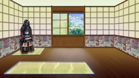 Interno giapponese tradizionale della stanza illustrazione for Architettura giapponese tradizionale