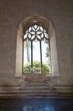 Interno gotico della finestra di Llotja della La Fotografie Stock Libere da Diritti