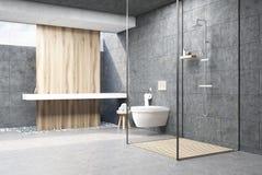 Interno grigio scuro della doccia illustrazione vettoriale