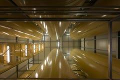 Interno industriale con il silos saldato Fotografia Stock Libera da Diritti