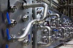 Interno industriale di una fabbrica dell'alcool Immagine Stock Libera da Diritti