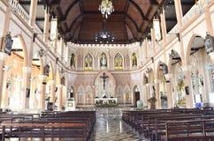 Interno la chiesa, Tailandia Fotografie Stock
