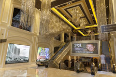 Interno a Las Vegas, NV dell'hotel di Palazzo il 2 agosto 2013 Immagini Stock Libere da Diritti