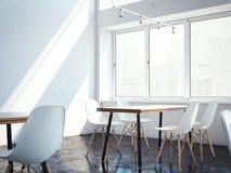 interno luminoso del ristorante rappresentazione 3d Fotografie Stock Libere da Diritti