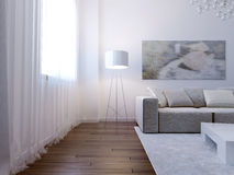 Interno luminoso del salone Fotografie Stock Libere da Diritti