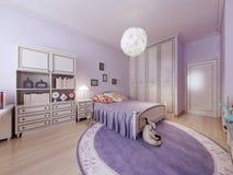 Interno luminoso della camera da letto degli adolescenti Immagini Stock Libere da Diritti