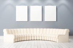 Interno luminoso moderno 3d rendono Fotografie Stock Libere da Diritti