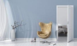 Interno luminoso moderno 3d rendono Immagini Stock