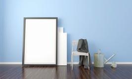 Interno luminoso moderno 3d rendono Immagine Stock