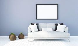 Interno luminoso moderno 3d rendono Fotografia Stock
