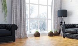 Interno luminoso moderno 3d rendono Fotografia Stock Libera da Diritti