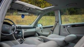 Interno lussuoso tedesco delle limousine - berlina, sedili di cuoio Immagine Stock Libera da Diritti
