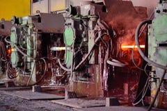 Interno metallurgico della pianta Fotografie Stock Libere da Diritti