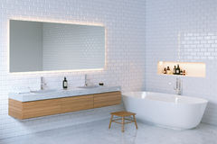 Interno minimalista del bagno di eleganza 3d rendono Fotografia Stock