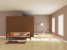 Interno minimalista della stanza Immagini Stock Libere da Diritti