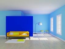 Interno minimalista della stanza Fotografie Stock
