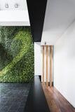 Interno minimo di stile di architettura moderna con il giardino verticale Fotografia Stock
