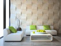 Interno con i pannelli di muro di cemento Fotografia Stock