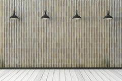Interno moderno con la parete vuota Immagini Stock