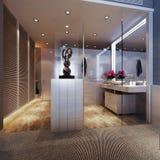 Interno moderno del bagno Illustrazione Vettoriale