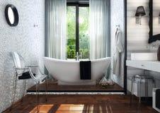 Interno moderno del bagno Royalty Illustrazione gratis