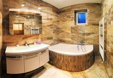 Interno moderno del bagno della casa Fotografia Stock Libera da Diritti
