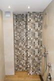 Interno moderno del bagno, progettazione contemporanea moderna Immagini Stock Libere da Diritti