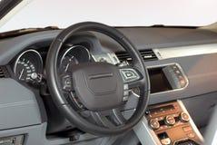Interno moderno dell'automobile Fotografia Stock
