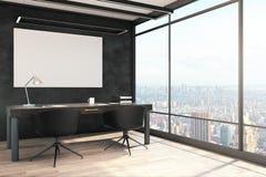 Interno moderno dell'ufficio con il tabellone per le affissioni illustrazione di stock