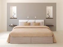 Interno moderno della camera da letto. Fotografia Stock