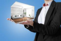 Interno moderno di concetto rappresentazione 3d Fotografie Stock