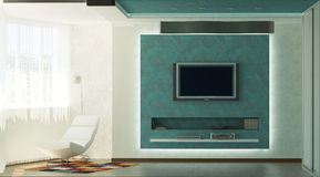 Interno moderno | Salone Immagine Stock