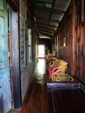 Interno, negozio di coffice della Camera a Bangkok, Tailandia fotografie stock libere da diritti