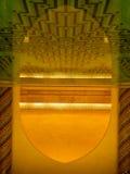 Interno nella moschea di Hassan II fotografia stock libera da diritti