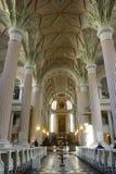 Interno neoclassico di Nikolaikirche in Lipsia Immagine Stock Libera da Diritti